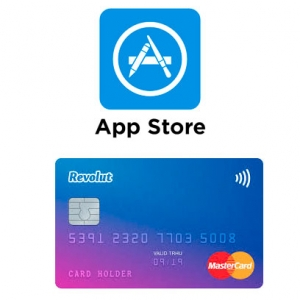 You can Add Revolut card to Apple Store