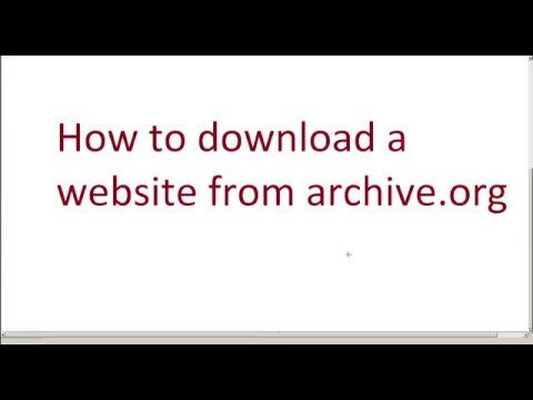 How to download a website from the archive.org Wayback Machine?